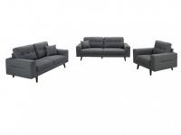Couchgarnitur 3+2+1 Stoff Baudelaire - Grau