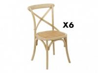 Stuhl 6er-Set Holz massiv Panya