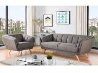 Couchgarnitur 3+1 Stoff MALENA - Grau