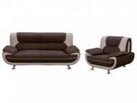 Couchgarnitur Stoff 3+1 Nigel - Braun