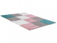 Hochflorteppich CUBIO - 160x230cm - Pastellfarben