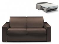 Schlafsofa 2-Sitzer CALITO - Braun - Liegefläche: 120 cm - Matratzenhöhe: 14cm