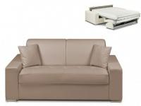Schlafsofa 2-Sitzer EMIR - Taupe - Liegefläche: 120cm - Matratzenhöhe: 18cm