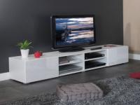 TV-Möbel Hochglanz Hilary - Weiß