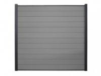 Gartenzaun Sichtschutz Barrera III - 180x180 cm - Grau