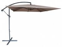 Sonnenschirm höhenverstellbar mit Fuß Capelina - Durchmesser: 250 cm - Taupe