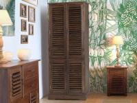 Kleiderschrank Holz massiv Bali II - 4 Türen