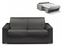 Schlafsofa 2-Sitzer CALITO - Schwarz - Liegefläche: 120 cm - Matratzenhöhe: 18cm