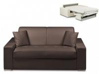 Schlafsofa 2-Sitzer EMIR - Braun - Liegefläche: 120cm - Matratzenhöhe: 14cm