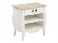Nachttisch Holz Barock Rhea - Weiß