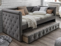 Ausziehbett Stoffsofa LOUISE + Lattenrost - 2x90x190 cm