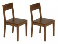 Stuhl 2er-Set Holz massiv TUSTY