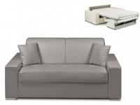 Schlafsofa 2-Sitzer EMIR - Grau - Liegefläche: 120cm - Matratzenhöhe: 14cm