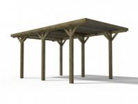Carport Holz ARES - 15, 5 m² - Mit PVC-Dach