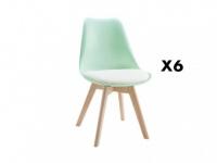 Stuhl 6er-Set Jaddy - Anisgrün