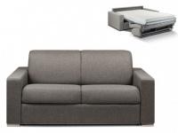 Schlafsofa 2-Sitzer Stoff CALITO - Anthrazit - Liegefläche: 120 cm - Matratzenhöhe: 18cm