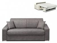 Schlafsofa 2-Sitzer Stoff EMIR - Grau - Liegefläche: 120cm - Matratzenhöhe: 18cm