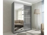 Kleiderschrank mit Spiegel YELENA - 2 Schiebetüren - Breite: 120cm