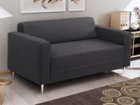 2-Sitzer Sofa Stoff Florat II - Anthrazit