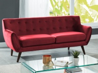 3-Sitzer-Sofa Samt SERTI - Bordeauxrot