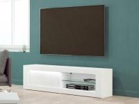 TV-Möbel mit LED-Beleuchtung ECLIPSE - 1 Tür & 2 Ablagen
