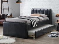 Ausziehbett ANDREA + Lattenrost - 2x90x190cm - Schwarz