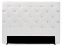 Kopfteil Bett gepolstert Enza - Breite: 162 cm - Weiß