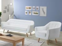 Couchgarnitur 3+1 Caroline - Weiß
