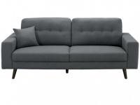3-Sitzer Stoff Baudelaire - Grau