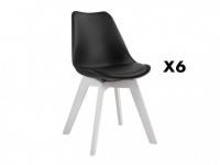 Stuhl 6er-Set Paddy - Limited Edition - Schwarz