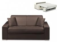 Schlafsofa 2-Sitzer EMIR - Braun - Liegefläche: 120cm - Matratzenhöhe: 18cm