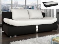 Schlafsofa 2-Sitzer JADEN - Schwarz & Weiß