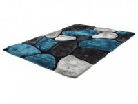 Hochflor-Teppich Pietra - Blau - 120x170 cm