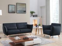 Couchgarnitur 3+1 Stoff Luanda - Blau