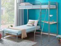 Etagenbett mit Schreibtisch GONTRAND + Lattenrost - 2x90x190cm