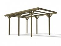 Carport Holz ZEPHYR - 15, 5 m²