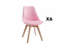 Stuhl 6er-Set Jaddy - Rosa
