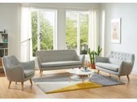 Couchgarnitur 3+2+1 Stoff JENNY