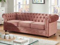 3-Sitzer-Sofa Chesterfield Samt ANNA - Rosa