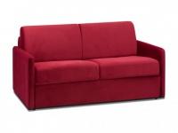 Schlafsofa 2-Sitzer Samt CALIFE - Rot - Liegefläche: 120 cm - Matratzenhöhe: 18cm