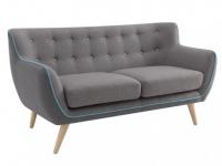 2-Sitzer-Sofa Stoff Serti - Anthrazit & Grau