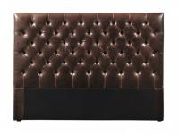 Kopfteil Bett Leder Aurele - Vintage Look - Breite: 162 cm