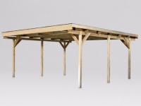 Doppelcarport Flachdach Holz IKE - 500x500cm (25m²)