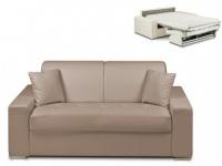 Schlafsofa 2-Sitzer EMIR - Taupe - Liegefläche: 120cm - Matratzenhöhe: 14cm