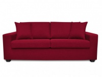 3-Sitzer-Sofa Stoff Yudo - Rot