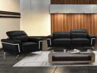 Couchgarnitur 3+1 HIPPOLYTE - Schwarz