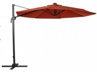 Sonnenschirm Stahl AIGNAN - Mit LED-Beleuchtung - Rot