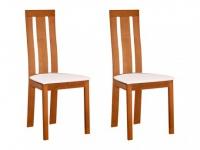 Stuhl 2er-Set Holz massiv Domingo - Eichefarben