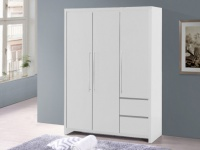 Kleiderschrank ISIS - 3 Türen & 2 Schubladen - Weiß