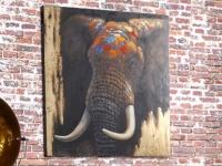 Kunstdruck Öl auf Leinwand Zambie - 100x100cm